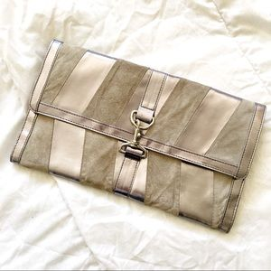 ⚡️SALE⚡️ URBAN OUTFITTERS Silver & Gray Clutch